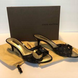 Louis Vuitton Brown Monogram Slide Sandal